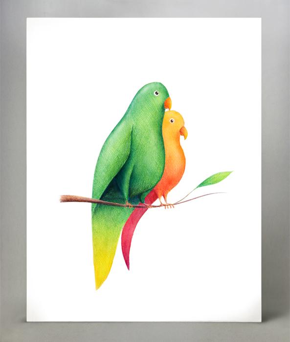 Formato: 30x21 cm su carta d'acquerello; ecoline e penne a sfera colorate.
