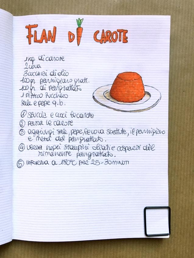 flan di carote